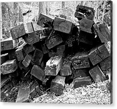 Acrylic Print featuring the photograph Old Railroad Ties by Kristen Fox