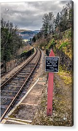 Old Railway Sign Acrylic Print by Adrian Evans