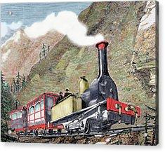 Old Railway, Usa Acrylic Print