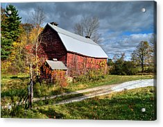 Old Red Barn - Berkshire County Acrylic Print
