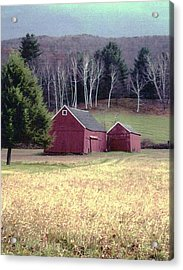 Old Red Barn Acrylic Print by John Scates