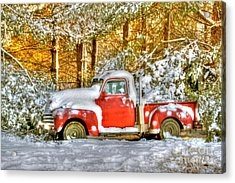 Old Red Acrylic Print by Benanne Stiens