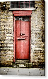 Old Red Door Acrylic Print by Heather Applegate