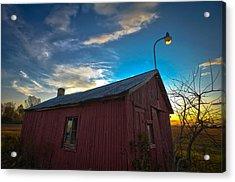 Old Red Acrylic Print by Jason Naudi Photography