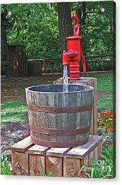Old Red Water Pump Acrylic Print
