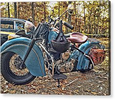 Pale Blue Rider Acrylic Print