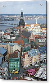 Old Riga City Roofs Acrylic Print