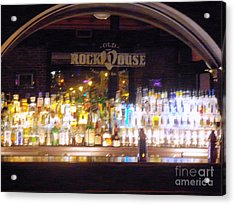 Acrylic Print featuring the photograph Old Rock House Bar by Kelly Awad