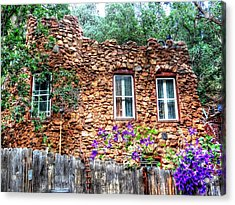 Acrylic Print featuring the photograph Old Rock House In Williams Canyon by Lanita Williams