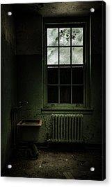 Old Room - Abandoned Asylum - The Presence Outside Acrylic Print by Gary Heller