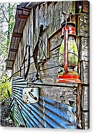 Old Rustic Building - Aunt Tinys Shed  Acrylic Print by Rebecca Korpita