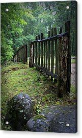 Old Rustic Fence Acrylic Print by Larry Bohlin