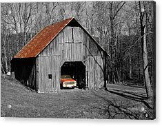 Old Rusty Barn  Acrylic Print by Donald Williams