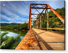 Old Rusty Bridge In Countryside Acrylic Print by Fototrav Print