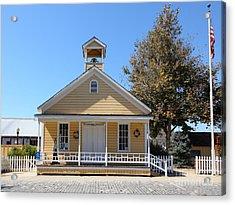 Old Sacramento California Schoolhouse 5d25541 Acrylic Print by Wingsdomain Art and Photography