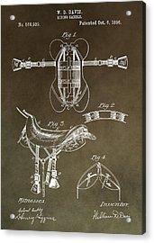 Old Saddle Patent Acrylic Print