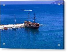Old Sailing Ship In Bali Acrylic Print