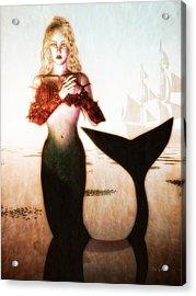 Old Sailors Dream - The Mermaid Acrylic Print by Bob Orsillo