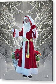 Old Saint Nick Acrylic Print by Thomas Woolworth