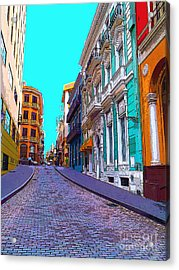 Old San Juan Acrylic Print by Carey Chen