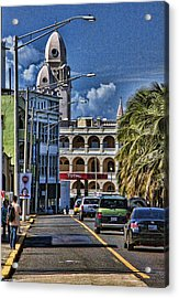 Acrylic Print featuring the photograph Old San Juan Cityscape by Daniel Sheldon