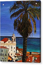 Old San Juan Ruerto Rico  Acrylic Print by Impressionism Modern and Contemporary Art  By Gregory A Page