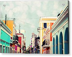 Old San Juan Special Request Acrylic Print by Kim Fearheiley