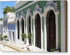 Old San Juan Street Acrylic Print by The Art of Alice Terrill