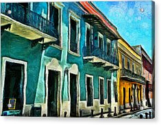 Old San Juan Street Acrylic Print