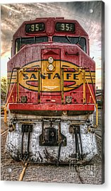 Old Santa Fe Engine Acrylic Print