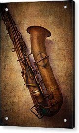 Old Sax Acrylic Print by Garry Gay