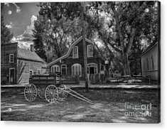 Old Scene-baker Wagon Acrylic Print by Darcy Michaelchuk