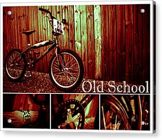 Old School Bmx - Pk Collage Colour Acrylic Print by Jamian Stayt