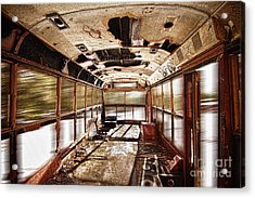 Old School Bus In Motion Hdr Acrylic Print by James BO  Insogna