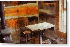 Old School Desk Acrylic Print by Dan Sproul