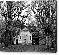 Old School House In The Woods Acrylic Print by Thomas J Rhodes