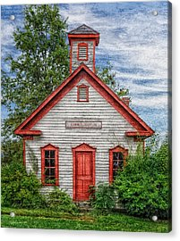 1892 Summit School House Version 3 Acrylic Print