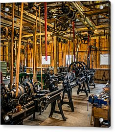 Old School Machine Shop Acrylic Print