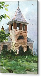 Acrylic Print featuring the painting Old Schoolhouse by Susan Crossman Buscho