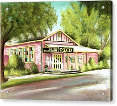 Acrylic Print featuring the painting Old Schoolhouse Theater On Sanibel Island by Melinda Saminski