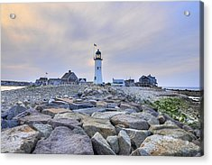 Old Scituate Light Acrylic Print by Dan Myers