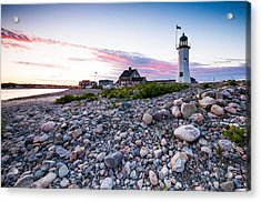 Old Scituate Light Acrylic Print by Lee Costa
