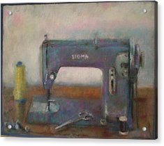 Old Sewing Machine Acrylic Print