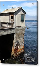Old Shack Overlooking The Monterey Bay In Monterey Cannery Row California 5d25062 Acrylic Print