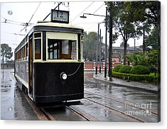 Old Shanghai Trolley Tram Car Rests In Tracks Acrylic Print by Imran Ahmed