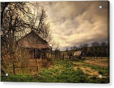 Old Shed And Barn At Osage Acrylic Print