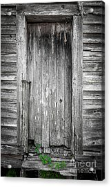 Old Shed Door Acrylic Print by Marion Johnson