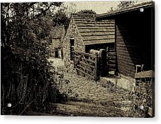 Acrylic Print featuring the photograph Old Shed by Karen Kersey