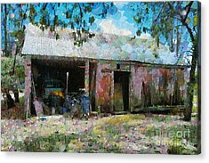 Old Shed Near Braidwood Acrylic Print