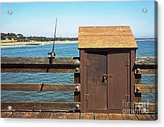 Old Shed On Ventura Pier Acrylic Print by Susan Wiedmann